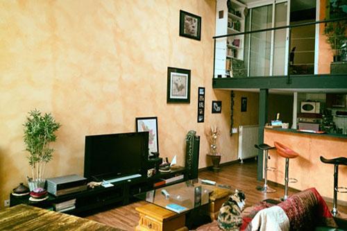 Loft à Bordeaux salon Chasseur Immobilier