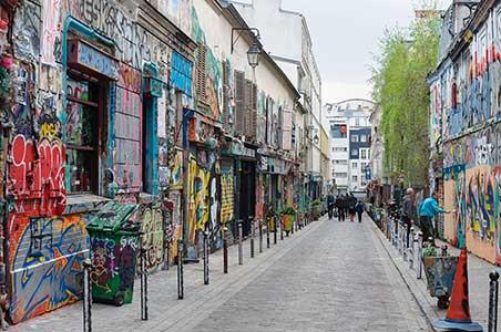 Rue denoyez Belleville Paris