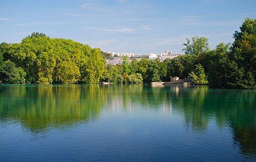 Parc de la tete d'or à Lyon