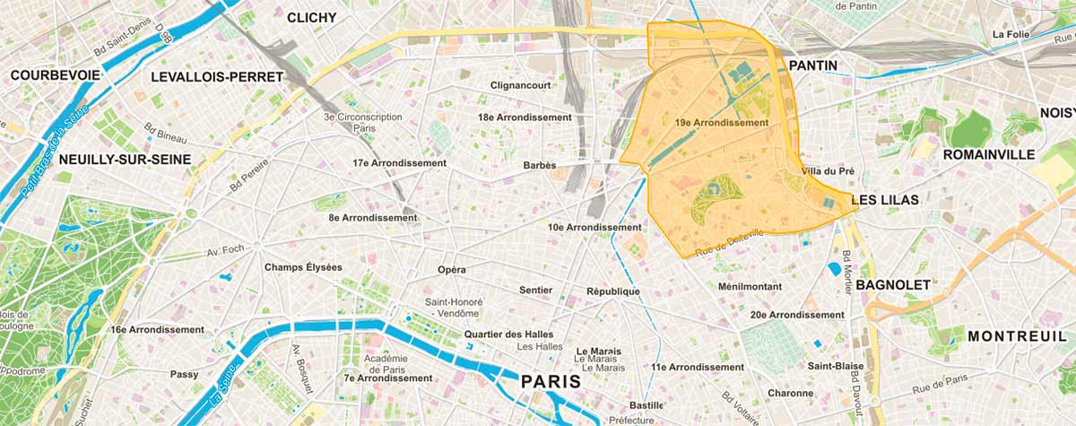 Plan-Paris-19e-arrondissement