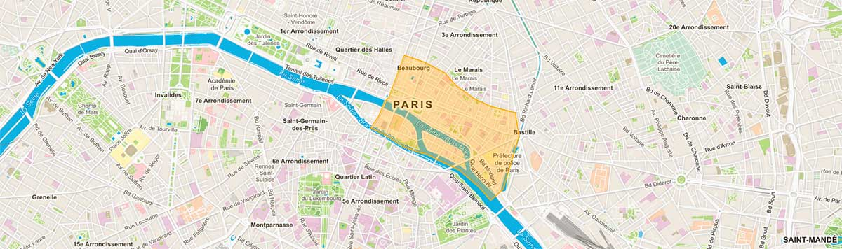 Plan de Paris 4e arrondissement