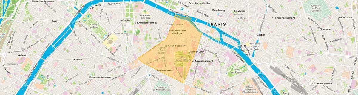 Plan du 6e arrondissement parisien