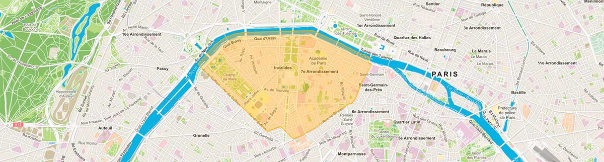 Plan de Paris 7e arrondissement